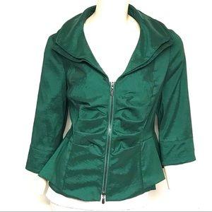 Joseph Ribkoff green zIp jacket
